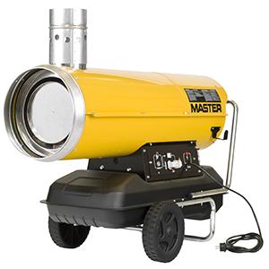 Varmekanoner Diesel med skorsten